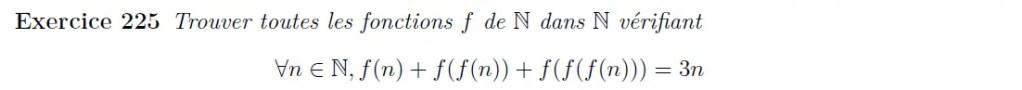 Equation fonctionnelle imbriquée