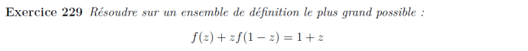 Equation fonctionnelle