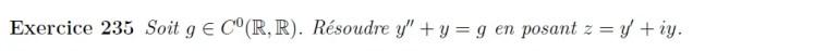 Equation différentielle complexe