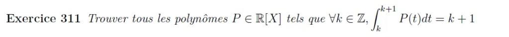 Polynôme défini par une intégrale