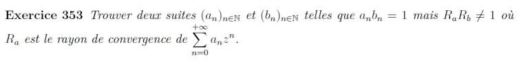 Rayon de convergence