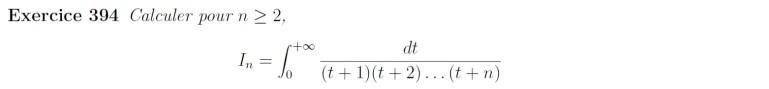 Intégrale impropre fraction rationnelle