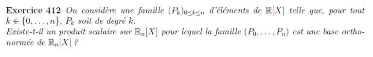 Base orthonormée de polynômes