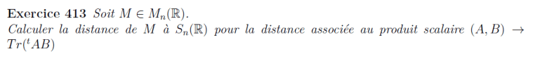Distance avec un produit scalaire
