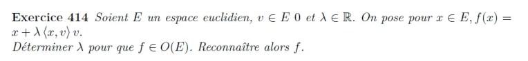 Calcul de fonction dans un espace euclidien