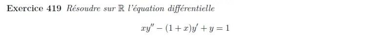 Equation différentielle d'ordre 2