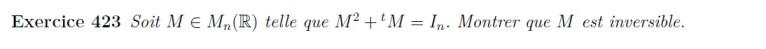 Equation matriciielle