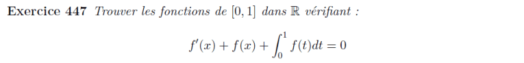 Equation différentielle avec intégrale