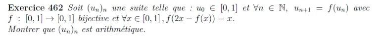 Suite récurrence arithmétique