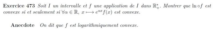 Convexité logarithmique