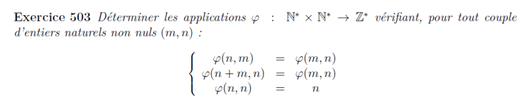 Morphisme avec propriétés définies