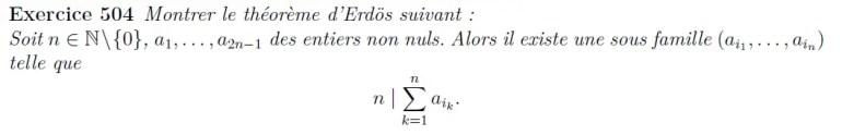 Théorème d'Erdös