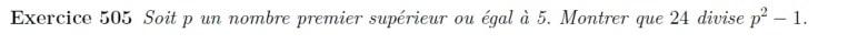Exercice classique arithmétique