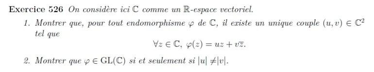 Application linéaire et conjuguée