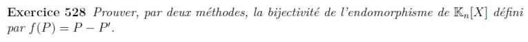 Bijectivité application polynômes
