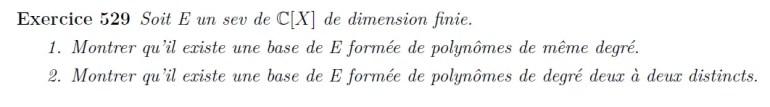 Polynôme et bases