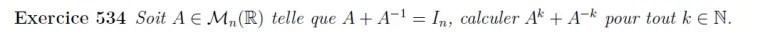 Puissance de matrices