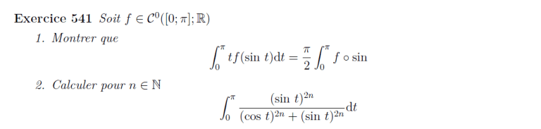 Changement de variable intégrale