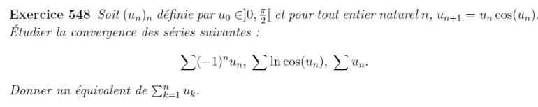Calcul de séries et équivalents