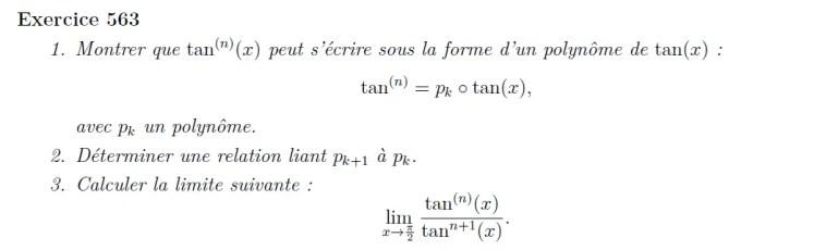 Polynôme de tangentes