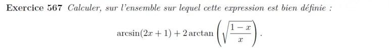 Simplification arcsin et arctan