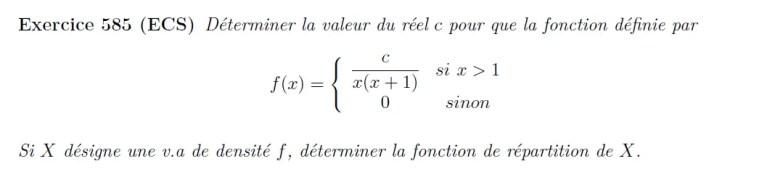 Variable aléatoire, fonction de répartition