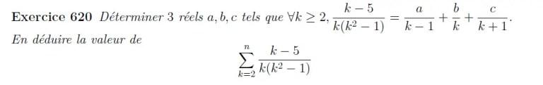 Décomposition en éléments simples puis somme