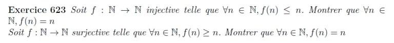 fonctions injectives et surjectives équation