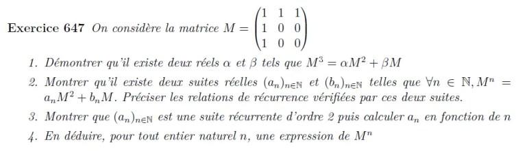 Puissance de matrice