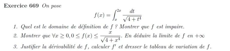 Fonction définie par une intégrale