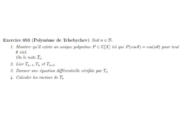 Polynôme de Tchebychev 2