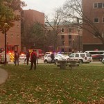 Image of OSU campus during the active shooter situation.