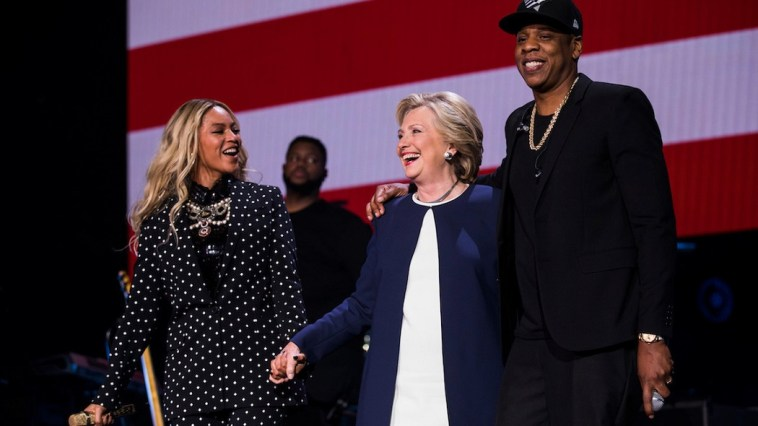 Beyoncé and Jay Z perform at a concert for Democratic Presidential candidate Hillary Clinton, November 4, 2016 in Cleveland, Ohio. (Brooks Kraft, POLITICO)