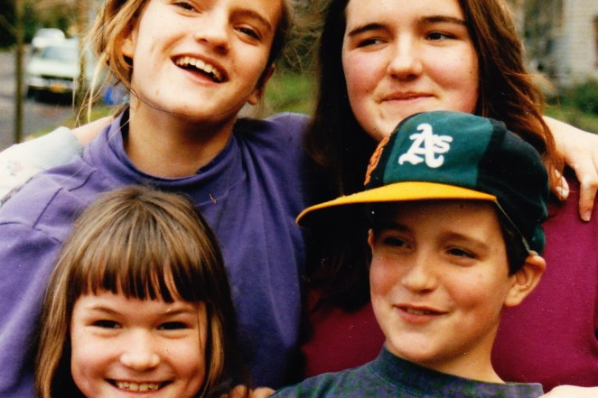 My siblings and I, many years ago. We grew up bearing witness to our mom's fear of the edge, which we understand is closer than many realize.