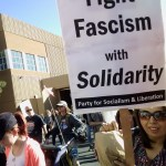 March against hate and fascism in Albuquerque, New Mexico