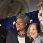 Former DNC Chair Debbie Wasserman Schultz and current Interim Chair Donna Brazile