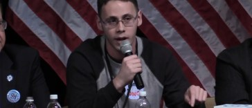 Samuel Ronan speaks at the DNC Forum in Detroit.