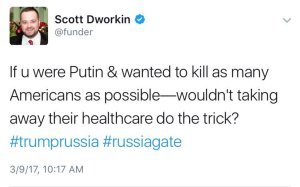 Scott Dworkin. Probably not joking