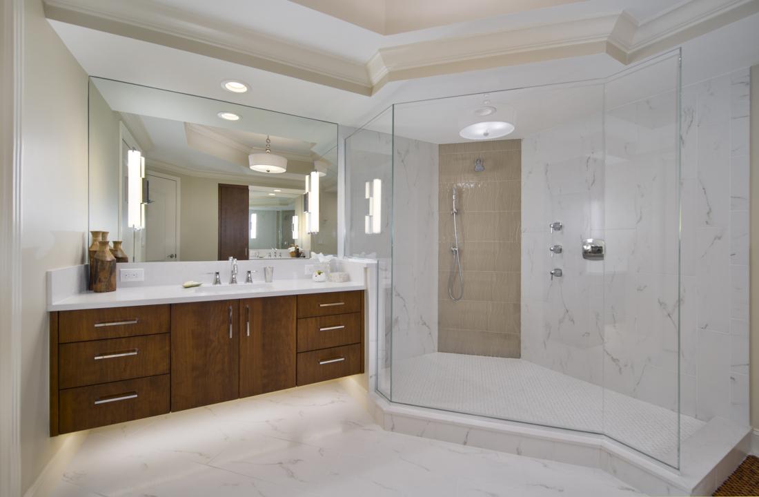 Condominium Master Bathroom Remodel Bonita Springs FL