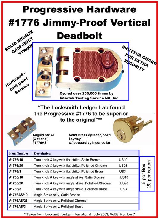 door hardware Progressive Hardware Co Inc Jimmy Proof