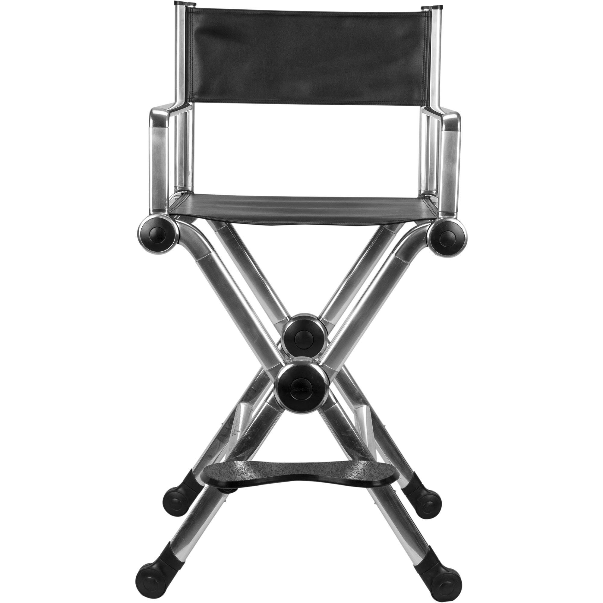 Ver Beauty Silver Aluminum Director Makeu Stylist Chair