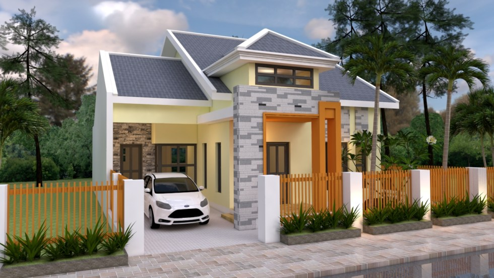 Front House Elevation 3d