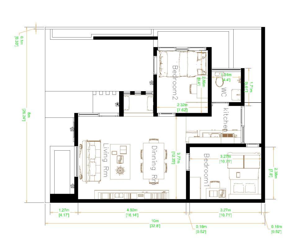 Best Small House Designs 8x10 Meter 26x33 Feet layout floor plan