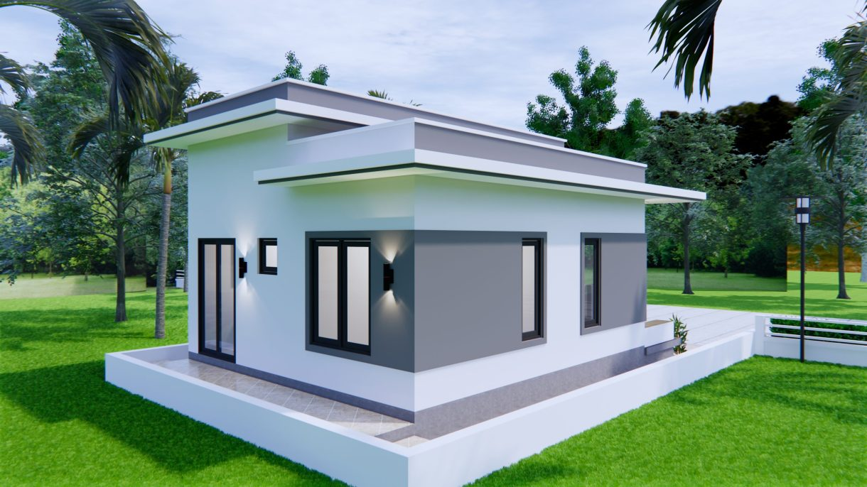 Best Small House Plans 6x8 Meter 20x27 Feet 2 Beds 2