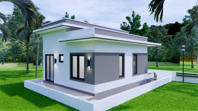 Best Small House Plans 6x8 Meter 20x27 Feet 2 Beds 2