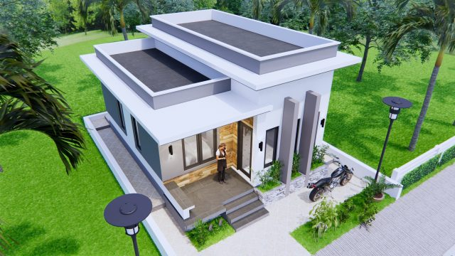 Best Small House Plans 6x8 Meter 20x27 Feet 2 Beds 3