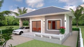 House Floor Plans 11x7 Meter 36x23 Feet 3 Beds 3
