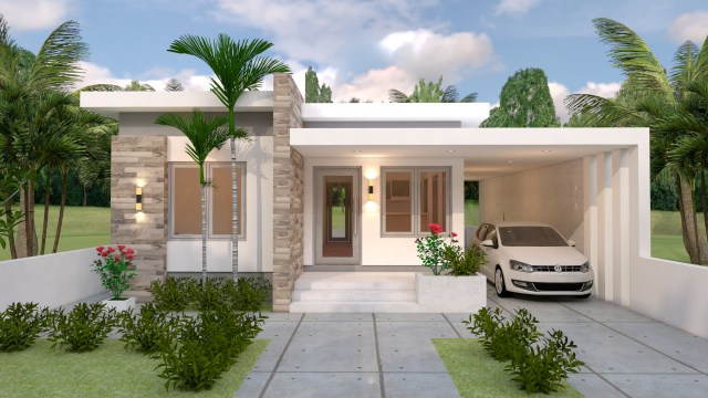House Layout Design 10x13 Meter 33x43 Feet 3 Beds 1
