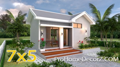 Modern Tiny Homes 5x7 with One Bedroom Gable Roof