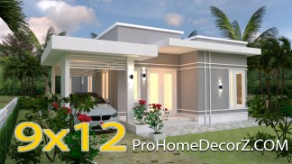 Simple Beautiful House 9x12 Meter 30x40 Feet 3 Beds